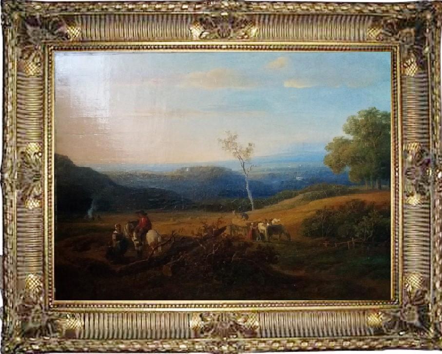Картина Сельский пейзаж, худ. Willem Roelofs 1845 год