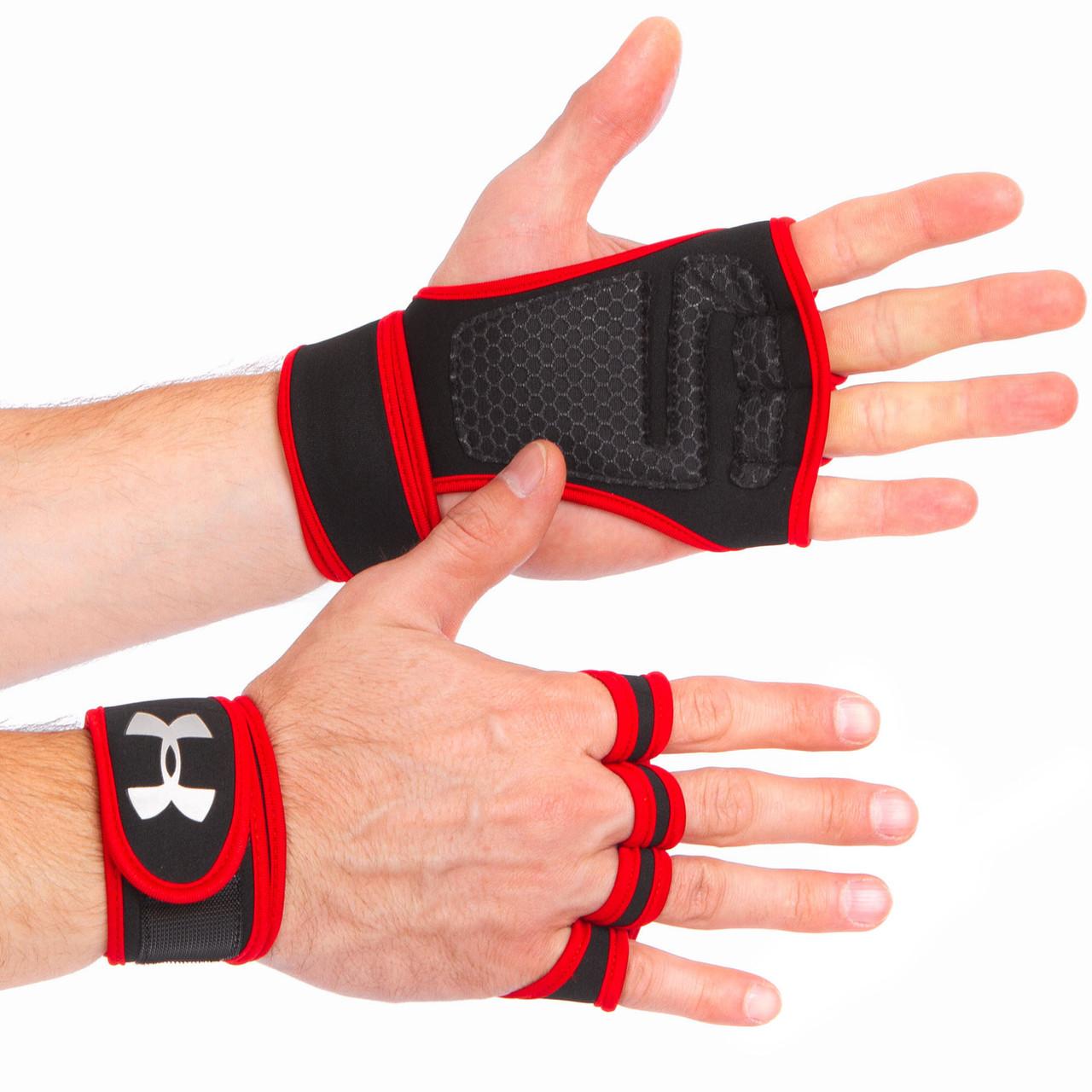 Перчатки (накладки) для поднятия веса UNDER ARMOUR ВС-9992-BKR
