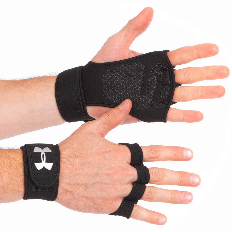 Перчатки (накладки) для поднятия веса UNDER ARMOUR ВС-9992-BK
