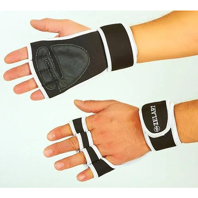 Перчатки (накладки) для поднятия веса ZELART ZG-3616 (реплика)