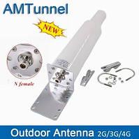 2G/3G/Wi-Fi/4G LTE всенаправленная антенна AMTunnel 698-2700 МГц с N-female (мама) разъемом 10-12 дБ, фото 1