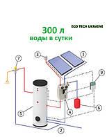 Гелиосистема на основе плоского всесезонного солнечного коллектора (300 л воды в сутки)