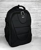 Прочный качественный мужской черный рюкзак городской, повседневный, для ноутбука 15,6