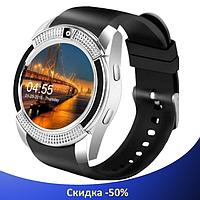 Умные часы Smart Watch V8 сенсорные - смарт часы Серые, фото 1