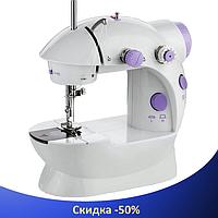 Швейна машинка портативна Mini Sewing Machine SM-202A - Міні швейна машина з адаптером