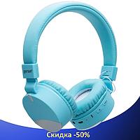 Бездротові навушники Gorsun GS-E86 - Bluetooth стерео навушники з MP3 плеєром і FM радіо (Блакитні), фото 1