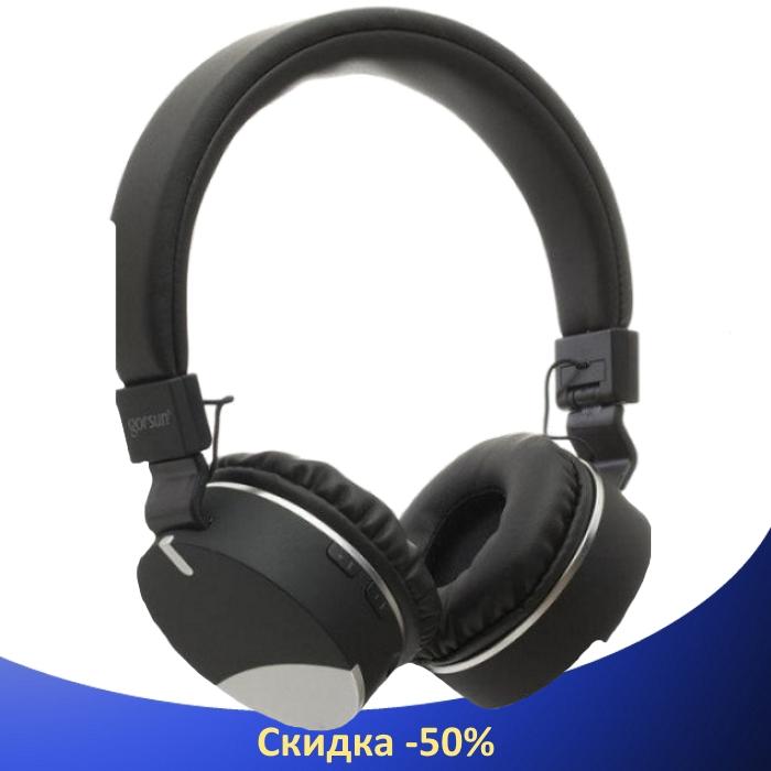 Беспроводные наушники Gorsun GS-E86 - Bluetooth стерео наушники с MP3 плеером и FM радио (Черные)