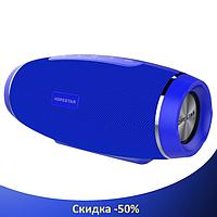 Портативная Bluetooth колонка Hopestar H27 - мощная акустическая стерео блютуз колонка Синяя, фото 1