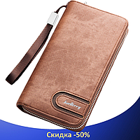 Клатч чоловічий гаманець портмоне барсетка Baellerry S1514 business Cofee