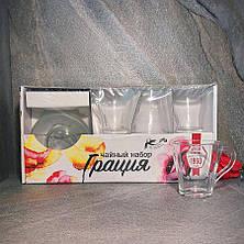 Стеклянный набор 6 чашек+6 блюдец ОСЗ Грация, фото 2