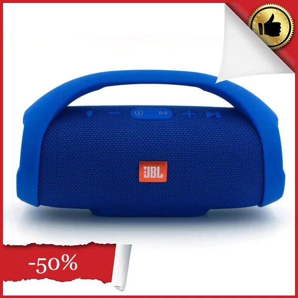 Портативная колонка 40 Вт Boombox Синяя, акустическая система блютуз бумбокс, Bluetooth акустика на