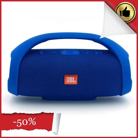 Портативна колонка JBL Boombox велика Синя, акустична система блютуз жбл бумбокс Bluetooth 40 Вт, акустика на акумуляторах на природу і додому, фото 2