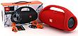 Портативна колонка JBL Boombox велика Синя, акустична система блютуз жбл бумбокс Bluetooth 40 Вт, акустика на акумуляторах на природу і додому, фото 6