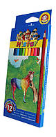 Карандаши цветные Hi Star  12 цв.