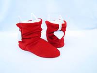 Модные Флисовые Тапочки сапожки=Чертики=комфортно и тепло,красные