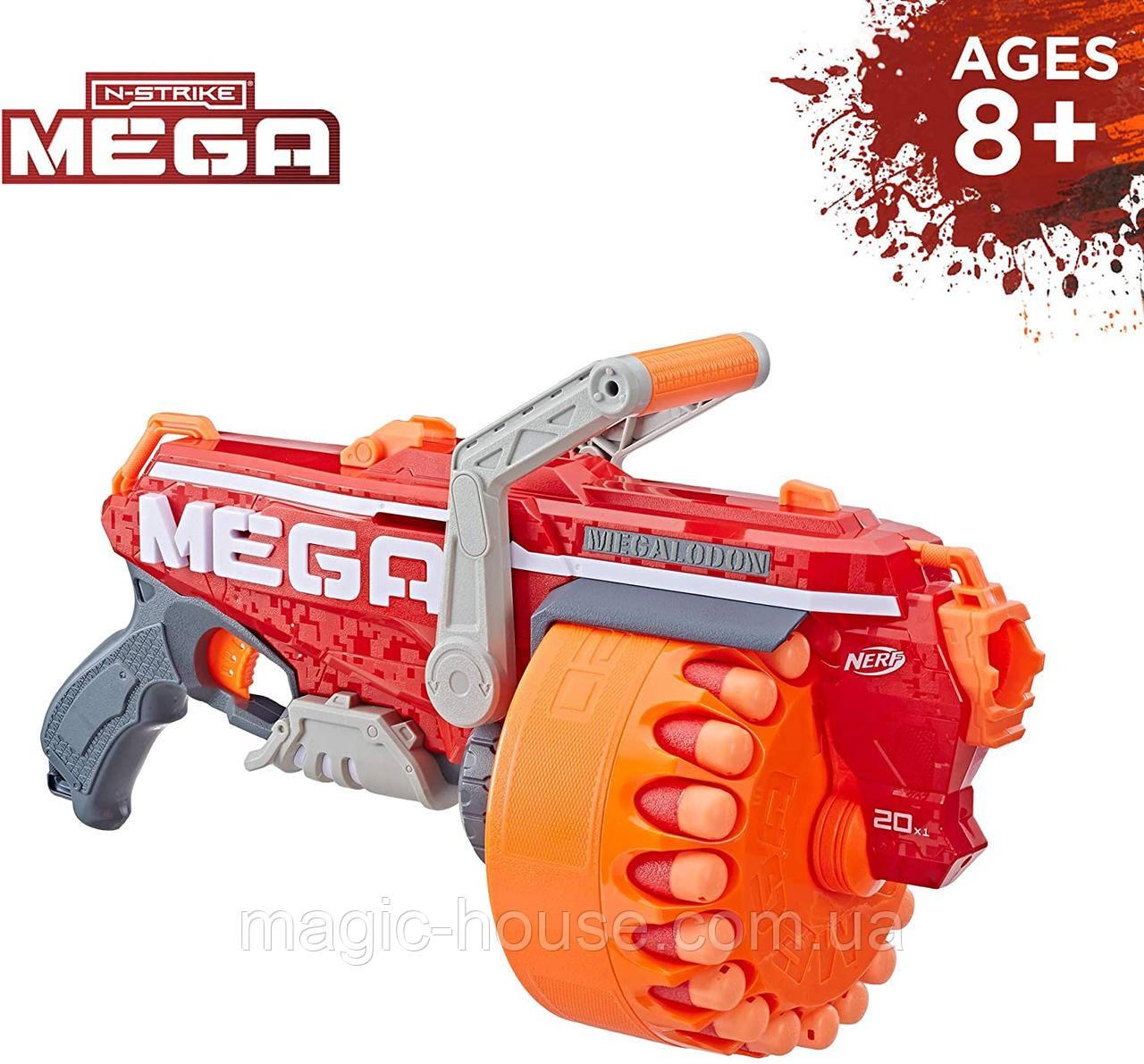 Бластер Нерф Мега Megalodon Nerf N-Strike Mega Оригинал