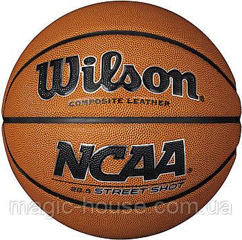 Мяч баскетбольный Wilson NCAA Street Shot Basketball оригинал размер 7 композитная кожа коричневый