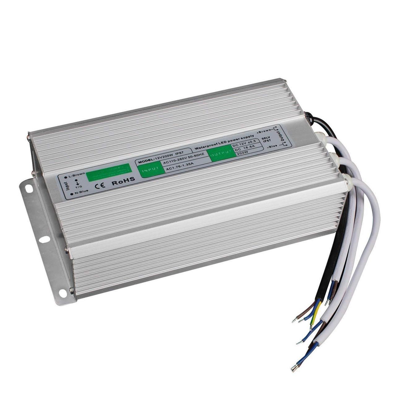 Блок питания импульсный PROLUM 200W 12V (IP67,16,67A)