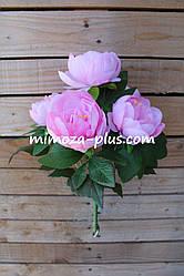 Искусственные цветы - Пион букет, 41 см