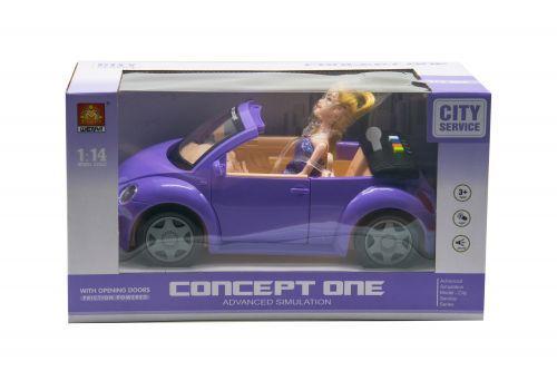 """Кукла в машинке """"City Service: Volkswagen Beetle"""" WY580B"""
