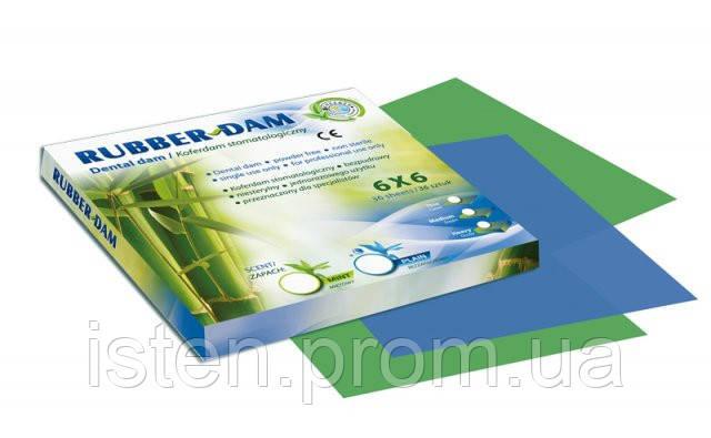 Платки для коффердама RUBBER-DAM, Cerkamed (РаберДам), 36 шт.|упак.