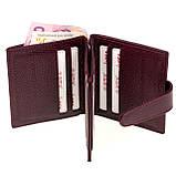 Кошелек для карточек из натуральной кожи BUTUN 131-004-002 бордовый, фото 4
