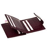 Кошелек для карточек из натуральной кожи BUTUN 131-004-002 бордовый, фото 5