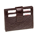 Кожаный картхолдер с отделением для купюр BUTUN 131-002-004 коричневый, фото 2