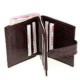 Кожаный картхолдер с отделением для купюр BUTUN 131-002-004 коричневый, фото 4