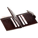 Кожаный картхолдер с отделением для купюр BUTUN 131-002-004 коричневый, фото 5