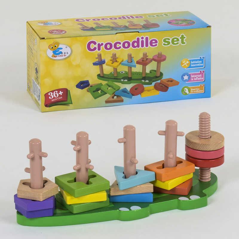 Деревянная логическая пирамидка КрокодС 39382 36 SKL11-219799