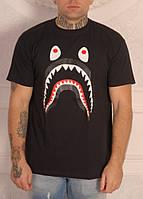 Классическая черная футболка Bape, фото 1