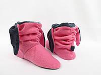 Милые теплые тапочки-сапожки=Зайки=комфортные, розовые