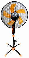 🔝 Бытовой напольный вентилятор с таймером, Bitek черно-оранжевый, электро-вентилятор для дома, офиса | 🎁%🚚