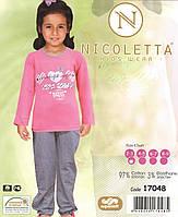 Пижама для девочки  со штанишками в клеточку , фото 1