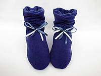 Милые флисовые тапочки-сапожки=Кокетка=тепло и комфортно,синие