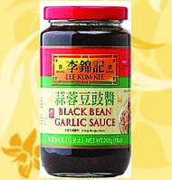 Чесночный соус с черными бобами и чесноком, Black bean garlic, Lee Kum Kee, 368 гр, ЧЗ