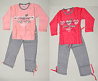 Красивая хлопковая пижама  для девочки