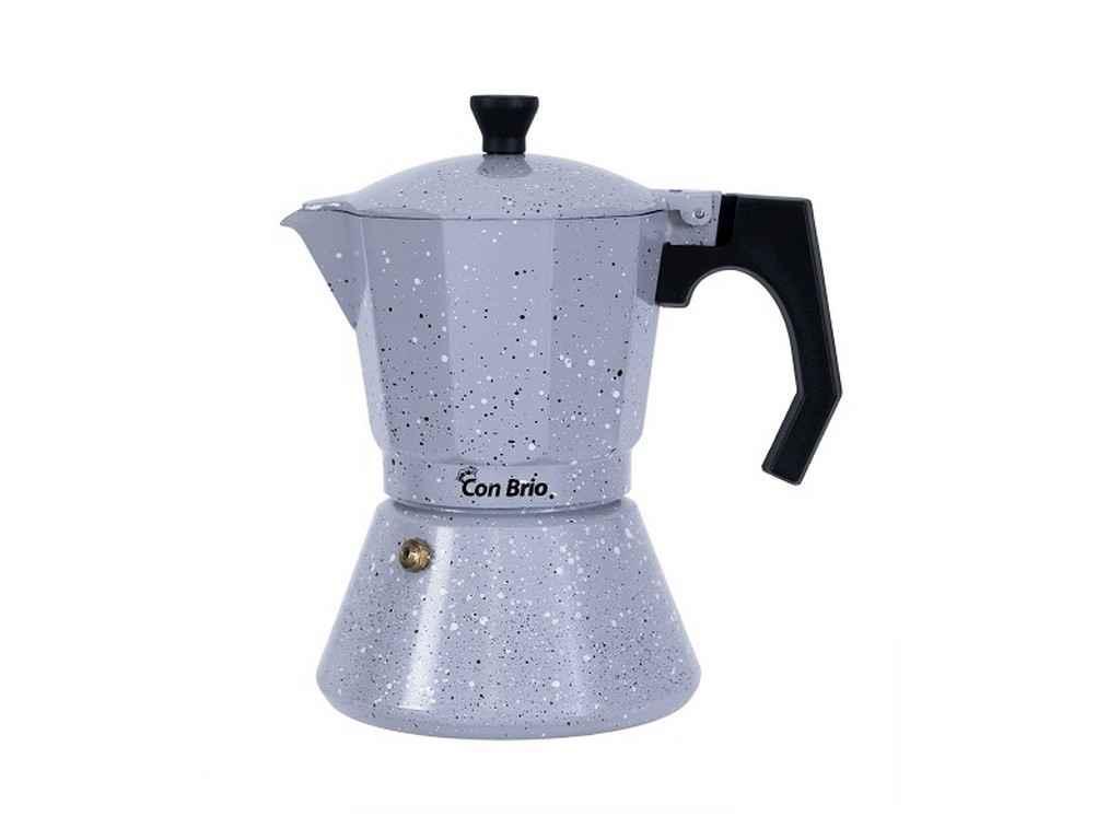 Кофеварка алюминиевая гейзерная Con Brio 300 мл для индукции (СВ-6706)