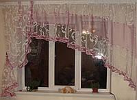 Комплект тюль на кухню Завитки, фото 1