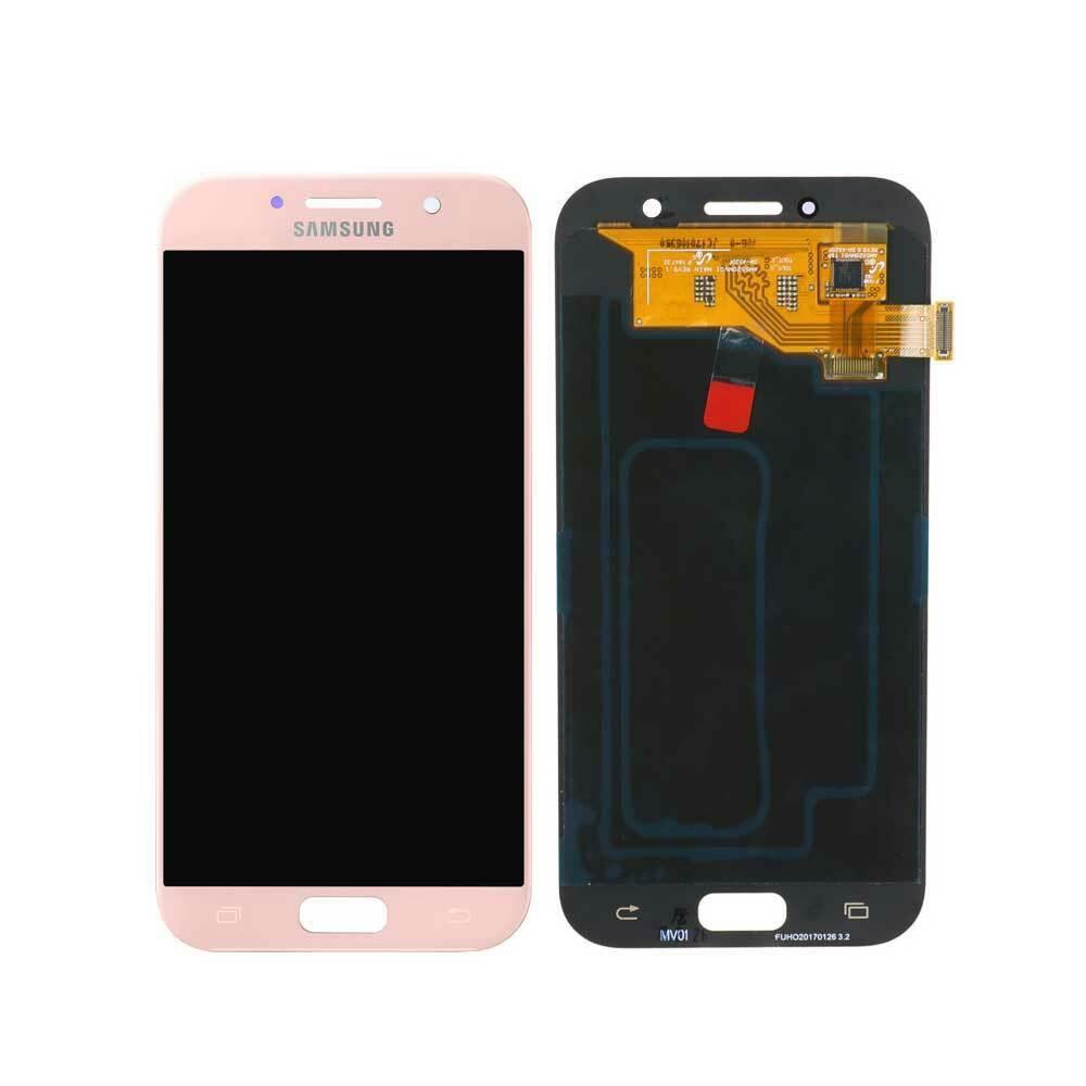 Дисплей (LCD) Samsung A520 Galaxy A5 (2017) OLED з тачскріном, рожевий