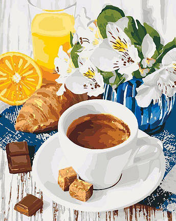 KH5539 Картина по номерам Весенний завтрак, Без коробки, фото 2