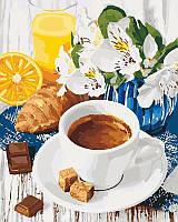 KH5539 Картина по номерам Весенний завтрак, Без коробки