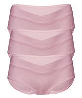 0355 Трусы для беременных с  кружевом комплект из 2 штук розовые, фото 1