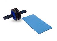 Тренажер колесо для пресса и других групп мышц Double wheel Abs health abdomen round