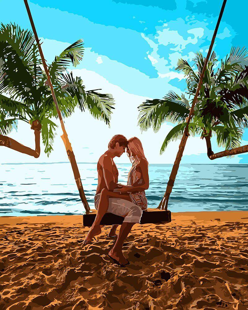 KH4698 Картина-раскраска Признание на побережье, В картонной коробке