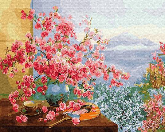 BK-GX27370 Картина для рисования по номерам Весна в Японии, Без коробки, фото 2