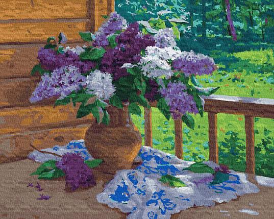 BK-GX23228 Картина для рисования по номерам Сирень на веранде, Без коробки, фото 2
