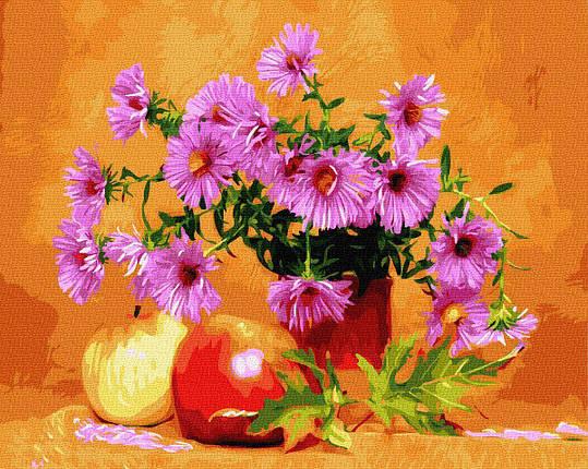 BK-GX34575 Картина для рисования по номерам Астры и яблоки, Без коробки, фото 2