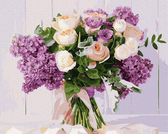 BK-GX34724 Картина для рисования по номерам Розы и сирень, Без коробки, фото 2
